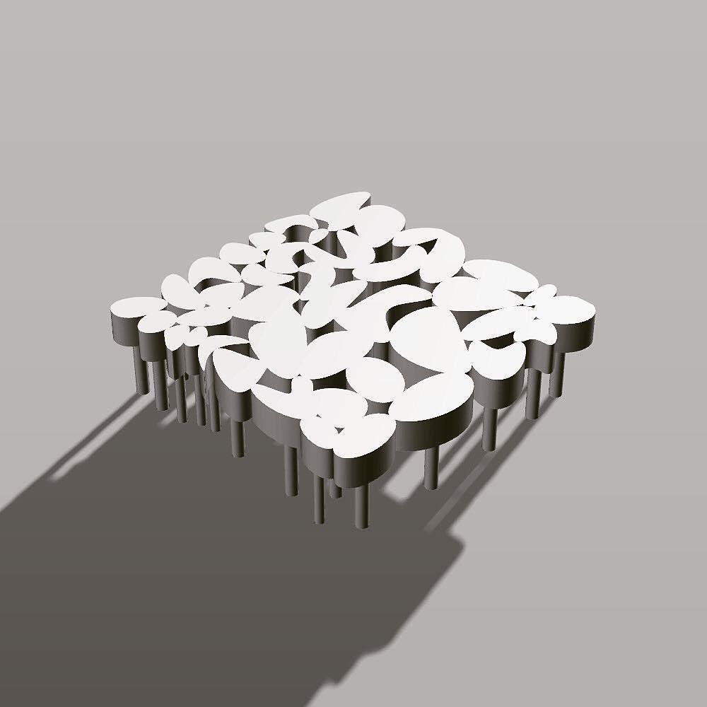 Organic Table Design I Created Using Fusion 360 CAD 3dprinting Nature