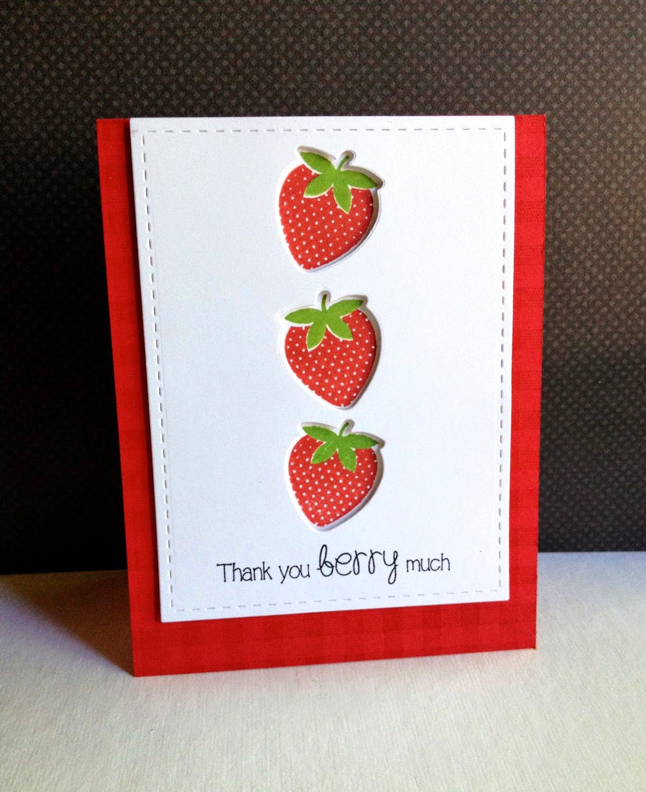 Unique Thank You Card Ideas: Handmade Thank You Card From I'm In Haven ... Strawberries