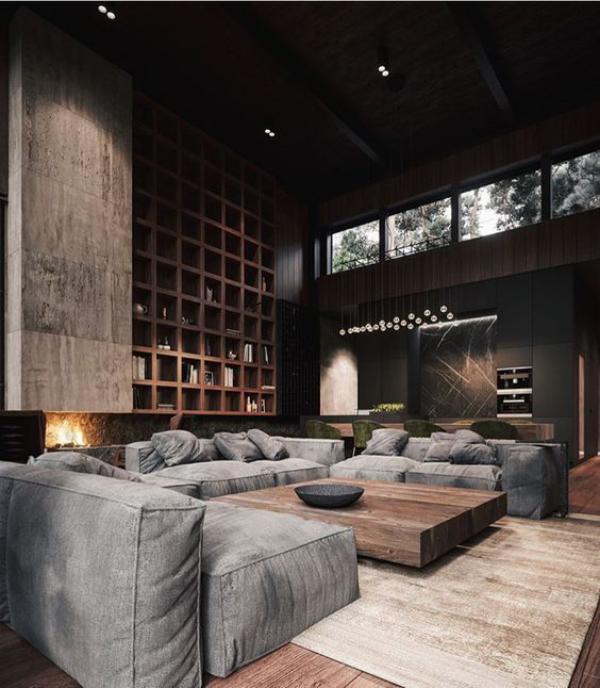 Photo of Eleganz auf männliche Artwork – diese Wohnzimmer sind typisch maskulin – Contemporary Ideen für das Interieur, Dekoration und Landschaft