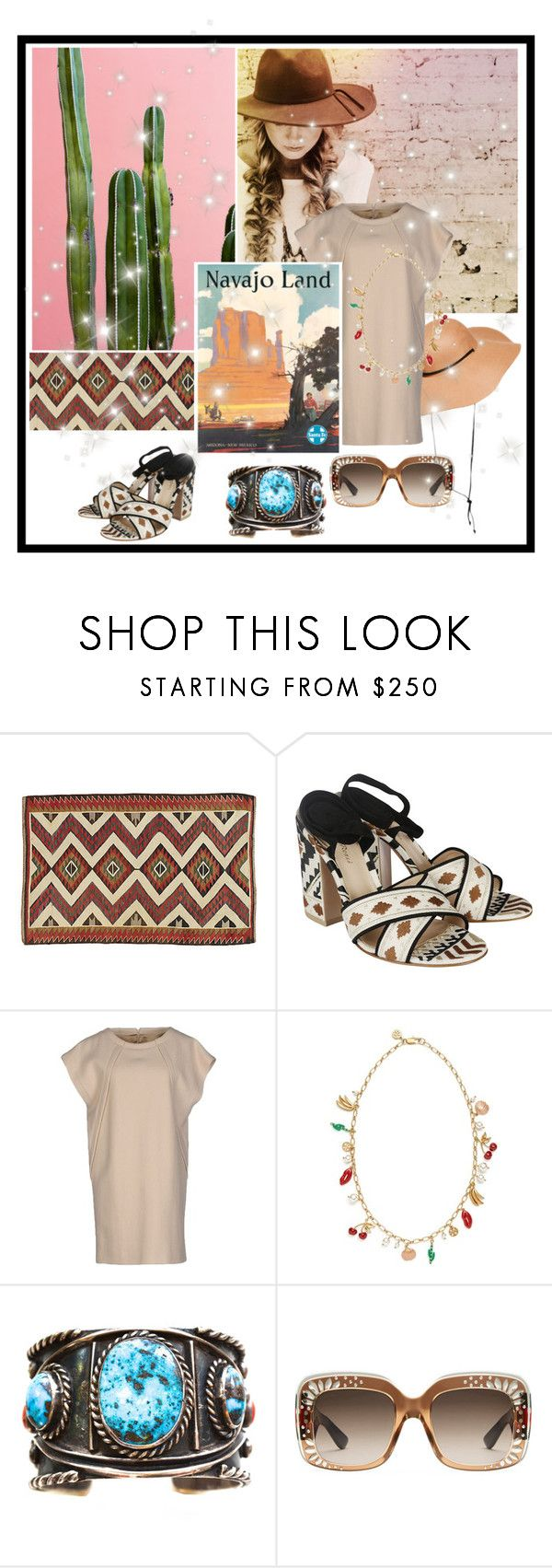 """Santa Fe"" by itgirl2010 ❤ liked on Polyvore featuring H&M, Gianvito Rossi, Maison Margiela, Tory Burch, Gucci and hatcontest"