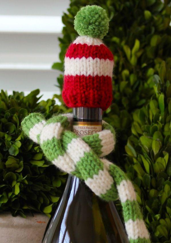 wine bottle hat   scarf  free knitting pattern   ae1022917af