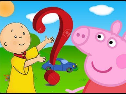 Peppa Pig y Caillou son novios Dibujos animados para nios