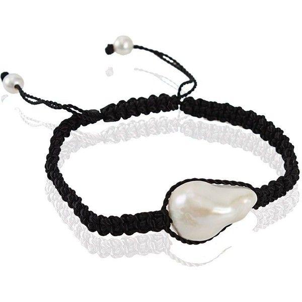 Jordan Alexander Large Baroque Pearl Bracelet ($165) ❤ liked on Polyvore