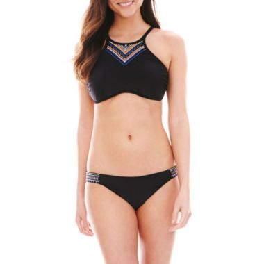 Ninety Six Degrees High-Neck Halter Swim Top or Hipster Bottoms  found at @JCPenney