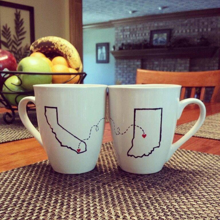 1. Buy a dollar store cup/plate. 2. Draw whatever you want in sharpie. 3. Bake in oven for 30 min. at 150°. These are great for going away gifts! Also if your boyfriend/husband is in the military the state cups is something cute to show off in your kitchen. :) #usmc