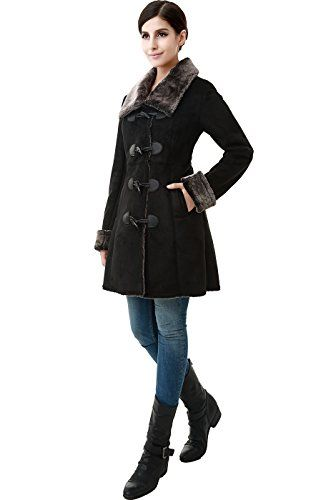 Jessie G. Women's Faux Shearling Toggle Coat