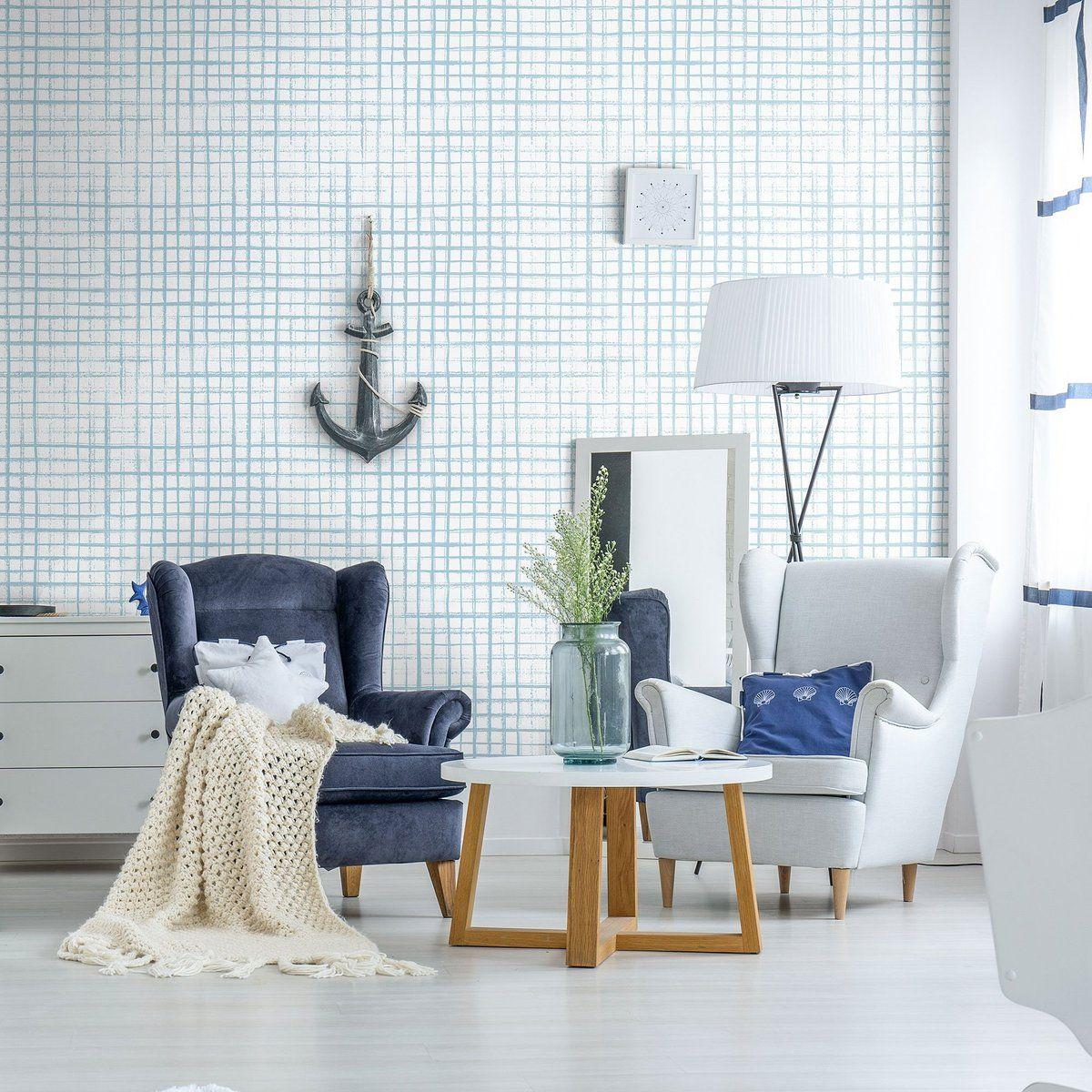 White And Blue Geometric Peel And Stick Removable Wallpaper 1830 Geometric Removable Wallpaper Removable Wallpaper Geometric Wallpaper Design