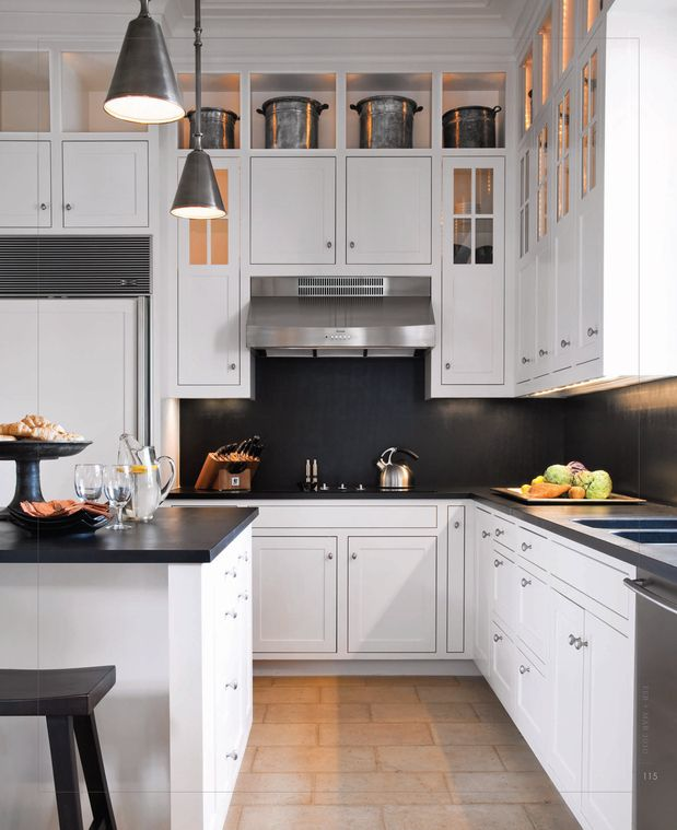 "Space Above Kitchen Cabinets: I LOVE The Use Of The ""dead Space"" Between The Top Of The"