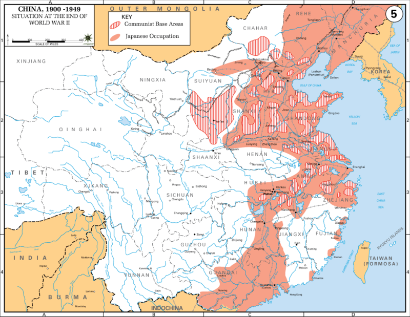 From wikiwand japanese occupation red of eastern china near the from wikiwand japanese occupation red of eastern china near the end of the war and communist guerrilla bases striped gumiabroncs Images