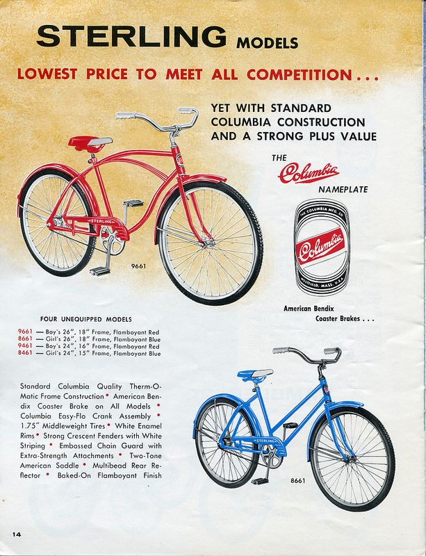 Columbia Catalog 1965 Page 14 Family Day Quotes Cool Bicycles Vintage Ads