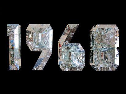 Doug Aitken mirror text sculpture