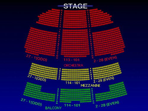 Image Result For Pictures Inside Richard Rodgers Theater Richard Rodgers Seating Charts Theater Seating