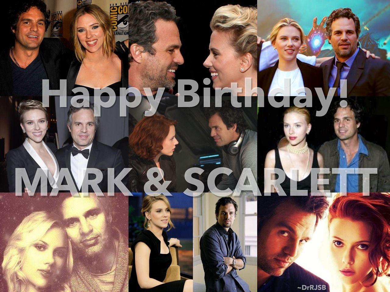 Happy 50th Birthday To Mark Ruffalo And 33rd Birthday To Scarlett