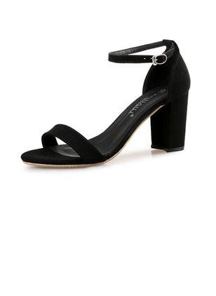Zapatos Sandalias De mujer Tacones Ante Tacón ancho  e0a39938ed77