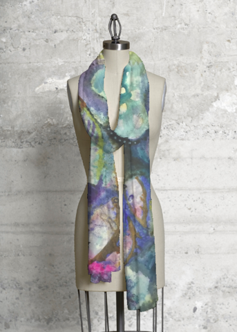 Cashmere Silk Scarf - WATERCOLOR BLUES by VIDA VIDA lMYs4