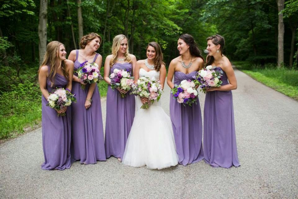 bridesmaid dresses - monique lhuillier lavender floor length dresses ...