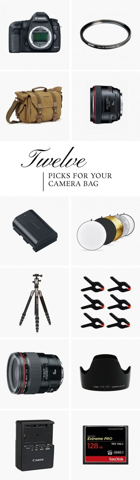 Everything You Need To Fill Your Pro Camera Bag   dreamgreendiy.com