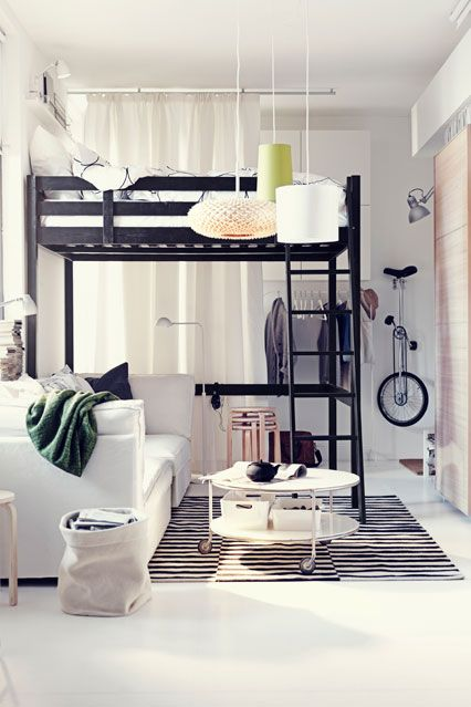 Compact But Cool My Sister Needs This Ikea Loft Bed Ikea Living Room Small Room Design