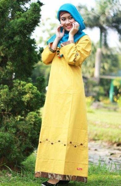 Gamis Nibras Nb06 Kuning Gamis Nibras Nb06 Kuning Hadir Dengan Warna