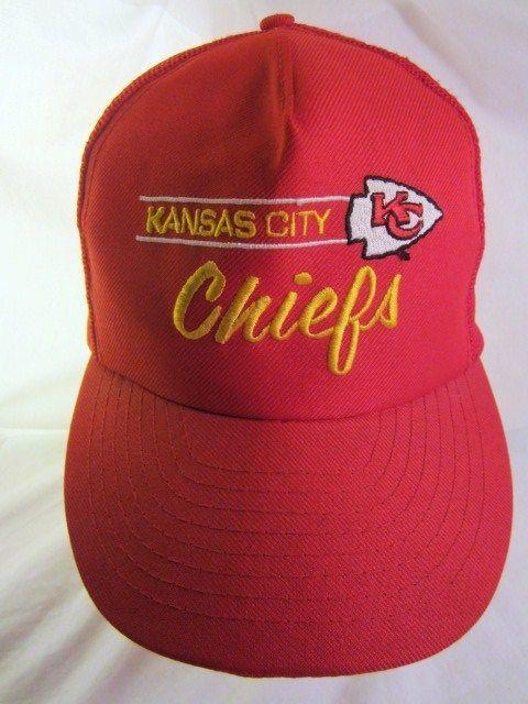 04da27eed7005 Kansas City Chiefs Hat Script Embroidered Logo KC Red NFL Adult Adjustable  Cap