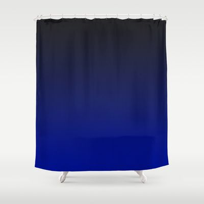 Colbolt Ombre Shower Curtain Dark Brilliant Blue To Black