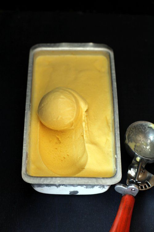 Mango Ice Cream Recipe How To Make Mango Ice Cream Recipe Mango Ice Cream Mango Ice Cream Recipe Ice Cream