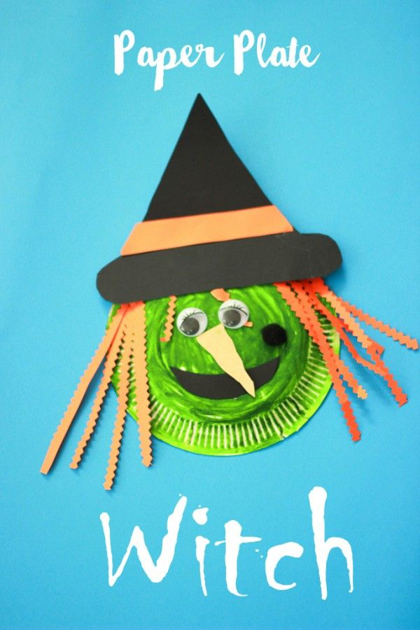 Make A Wickedly Fun Paper Plate Witch Halloween Craft. Cast A Spell On Your  Home