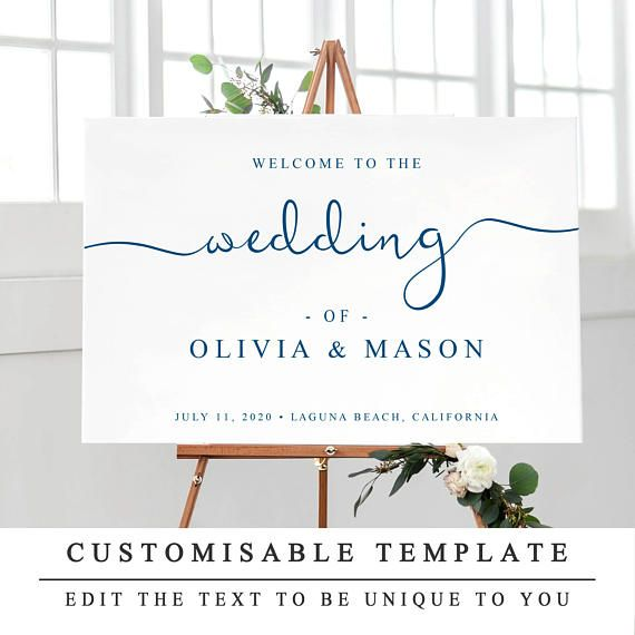 2018 年の navy printable wedding welcome sign template wedding