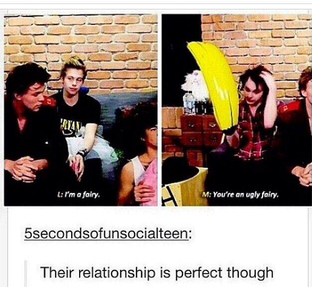 I feel like Michael teases Luke the same way i tease my best friend. I kinda feel like me and mikey are really similar but idk