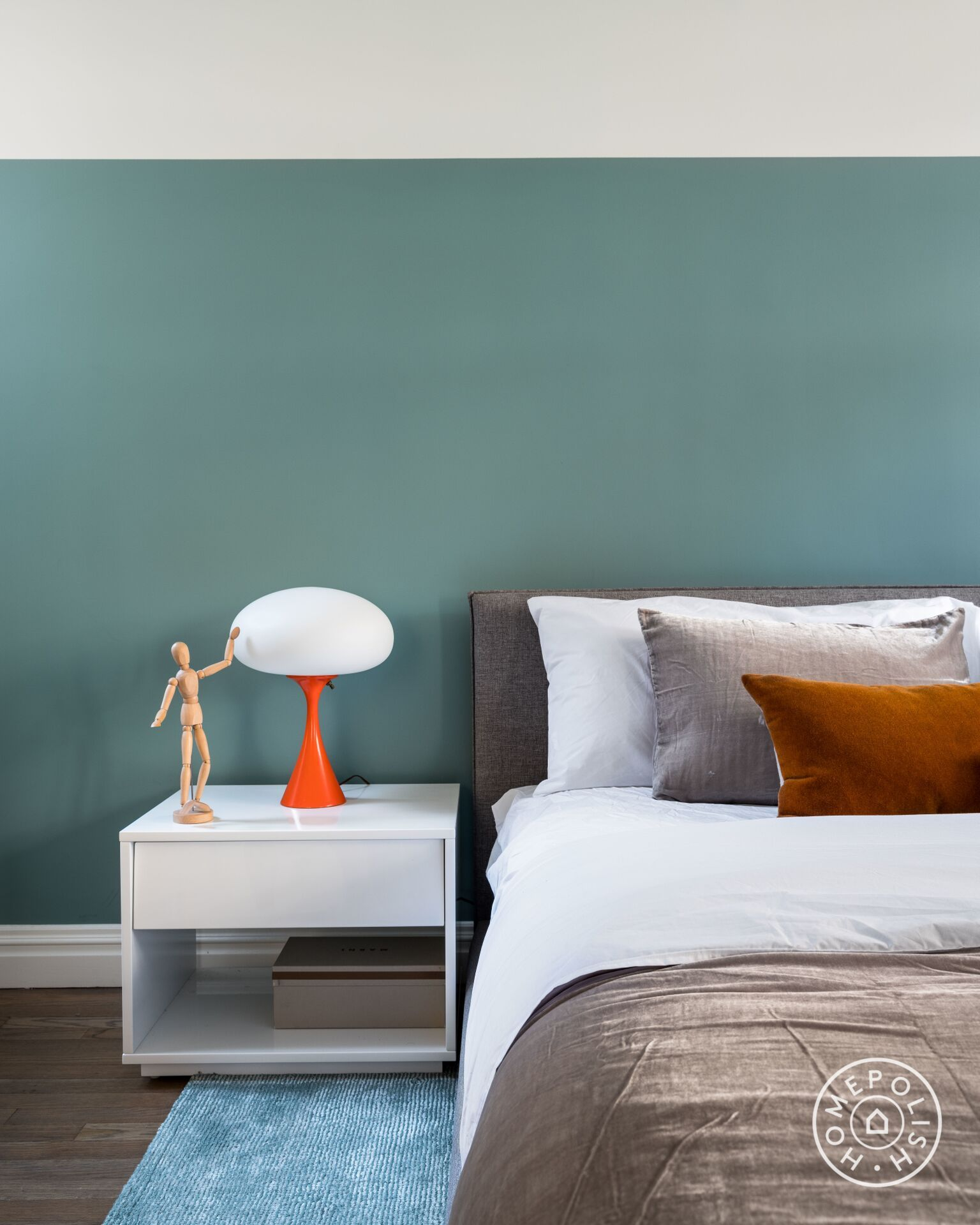 Couple Bedroom Design: Graphic Yet Graceful In Greenwich Village