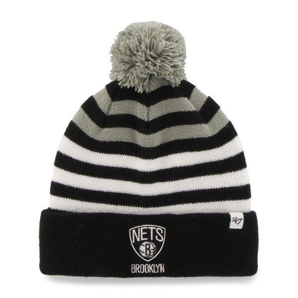 17603fdf3e8 Youth Brooklyn Nets  47 Brand Black Yipes Cuff Knit Beanie