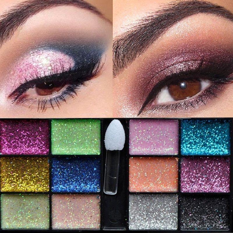 Cosmetic 12 Color Women Warm Sparkle Glitter Makeup Cream