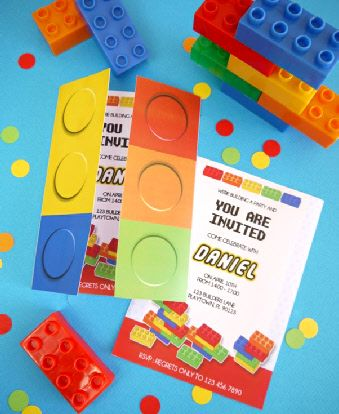 building bricks birthday party printables supplies decorations in