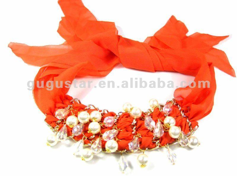 con las cadenas de perlas de cuentas de cristal azul royal pulseras de seda de oro plateado-Brazaletes y Pulseras-Identificación del product...
