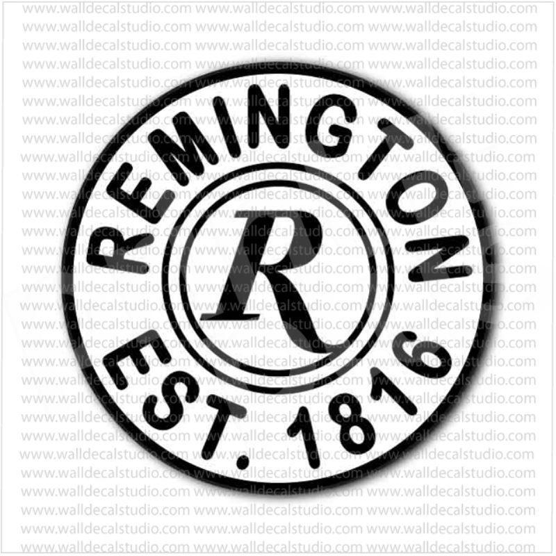 Remington Firearms Gunmaker Emblem Bullet Sticker