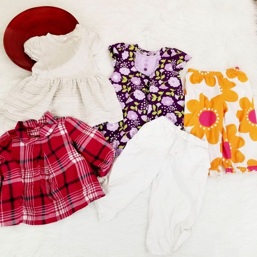 3f995f4fa56ca 5 PC Lot Baby Girls Clothes Size 18-24 Dress Top Pants Gymboree Baby ...