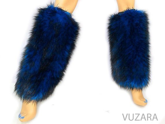 furry leg warmers boot covers fuzzy leg warmers cat fox rave costume wolf pup dance edm party halloween costume vuzara faux fur leg warmers furry leg warmers boot covers...