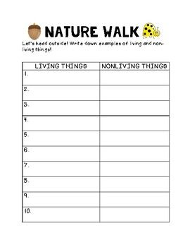 living and nonliving nature walk living vs non living walking in nature living nonliving. Black Bedroom Furniture Sets. Home Design Ideas