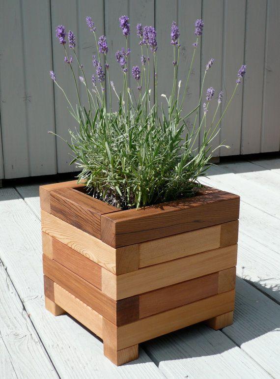 Square Red Cedar Planter Box – Garden Planter Box Plans