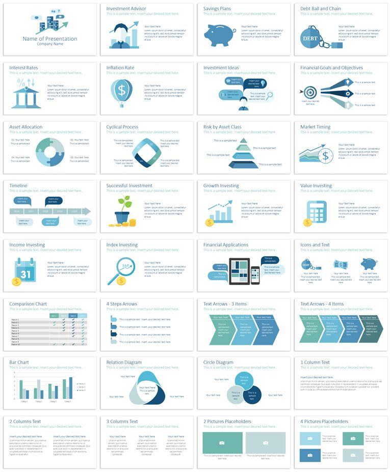 Investment Powerpoint Template Powerpoint Templates Pinterest