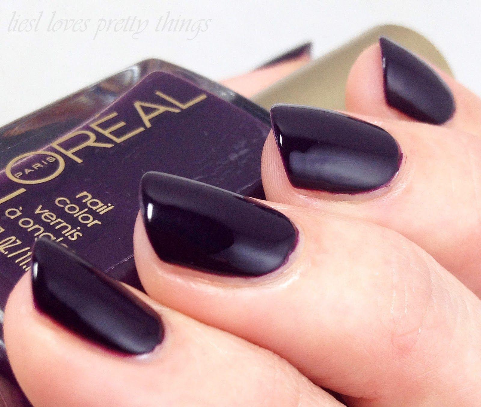 Loreal - Almost Midnight   Nail Polish I Own   Pinterest