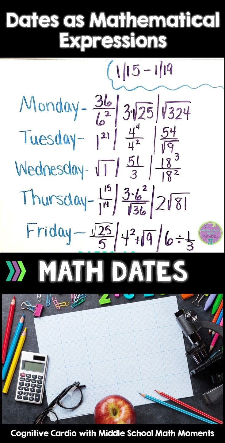 math dates - dates as mathematical expressions full-year bundle