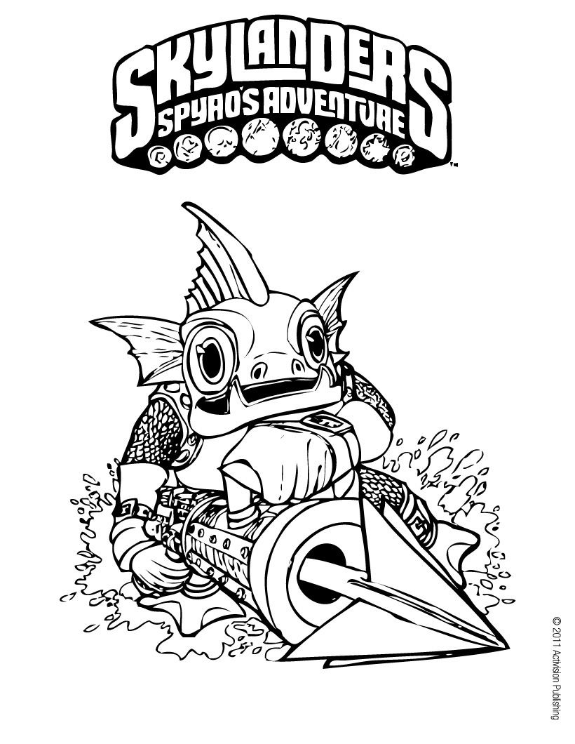 Free coloring pages for skylanders - Let Your Imagination Soar And Color This Gill Grunt Coloring Page With The Colors Of Your Choice Print Out More Coloring Pages Skylanders