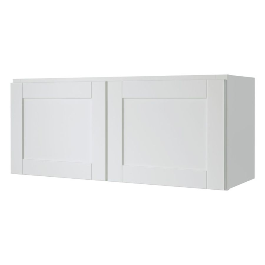 Diamond Now Arcadia 33 In W X 14 In H X 12 In D Truecolor White Door Wall Stock Cabinet Lowes Com Stock Cabinets White Doors Wall Cabinet