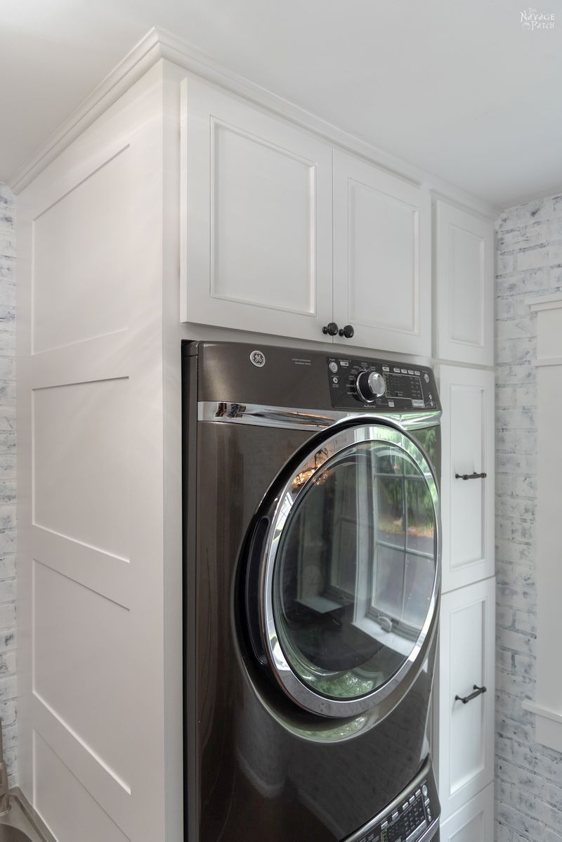 Laundry Room Cabinet with Pull-Out Shelves | Laundry room ...