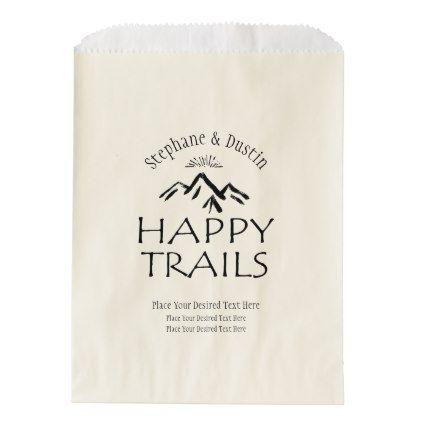 Personalized Trail Mix Bar Favor Treat Bags | Zazzle.com