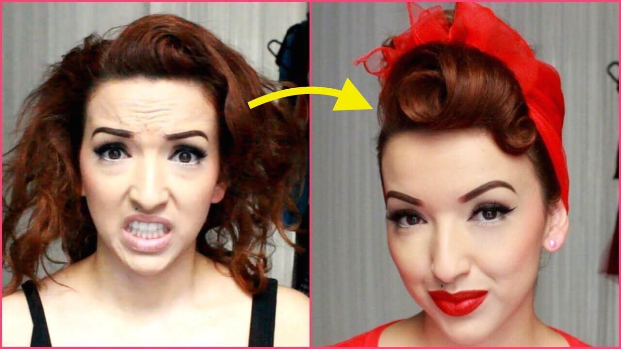 Rockabilly Hair Styles: [VIDEO] QUICK & CLASSY PINUP HAIRDO … Simple And Clear