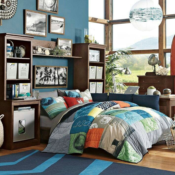 Teen Bedroom- -Pottery Barn Teen | Grady | Surf bedroom ...