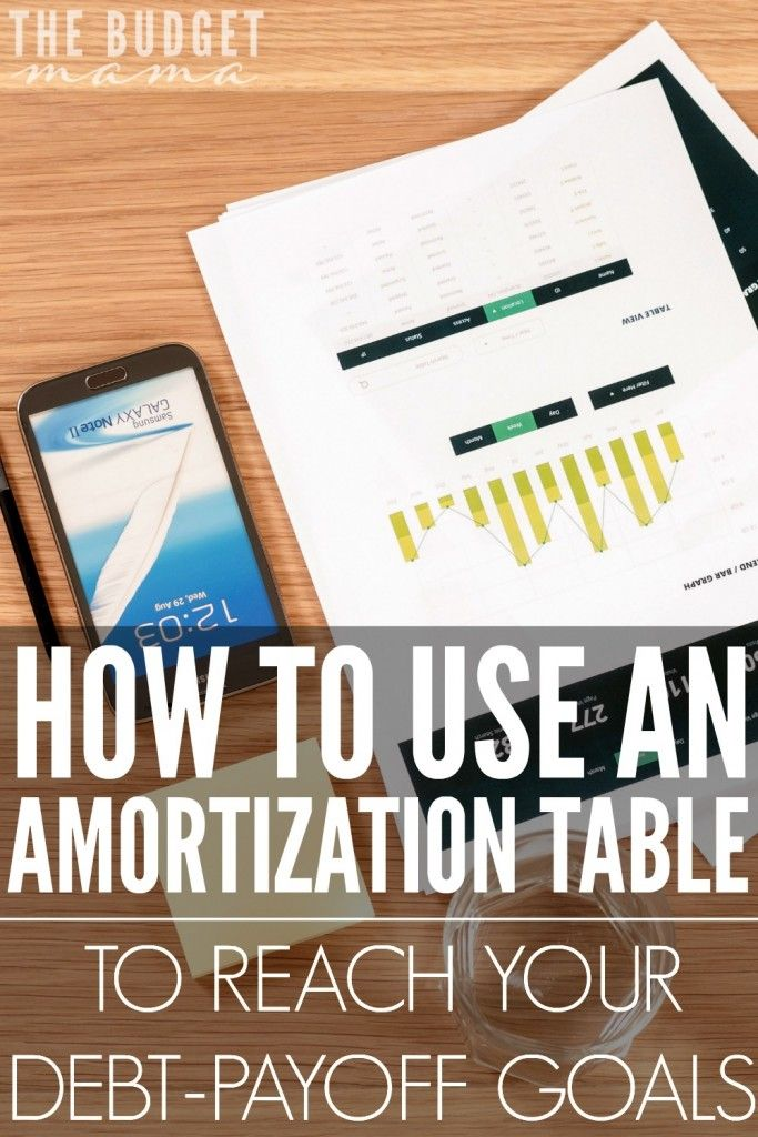 how to use an amortization table to reach your debt payoff goals