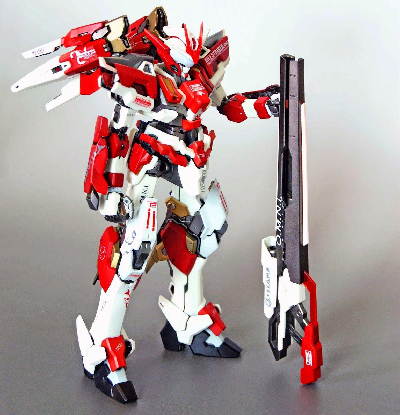 GUNDAM GUY: 1/100 Red Frame Astray + Freedom Gundam + Other Kitbash - Custom Build